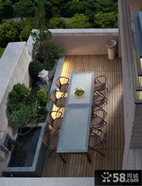 露天阳台设计装修实景图