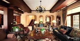 美式乡村风格别墅客厅装修图片大全2014图片
