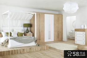 卧室整体衣柜设计效果图