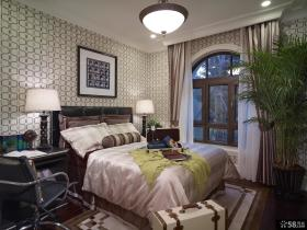 远洋万和城三居室美式风格玄关装修样板间