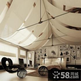 140万打造宜家欧式风格客厅吊顶装修效果图大全2012图片
