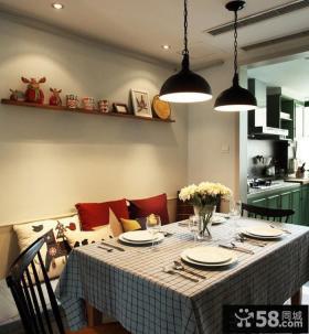 混搭风格家庭餐厅设计图片欣赏