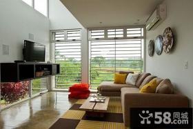 田园风格别墅客厅装修效果图大全2013图片欣赏