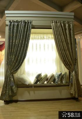 卧室飘窗窗帘装修图片大全