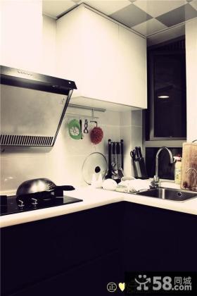 半开放式小厨房吧台欣赏