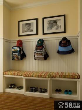 进门玄关鞋柜装饰设计效果图