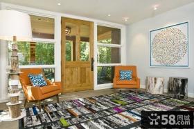 简约风格装修设计 现代风格客厅装修样板间