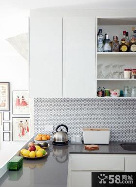 小户型厨房瓷砖台面设计效果图