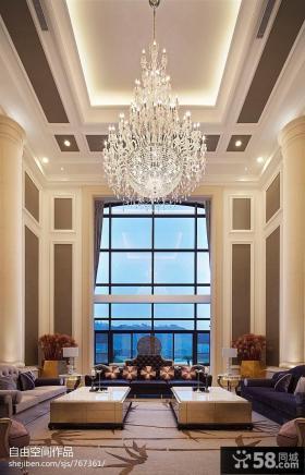 别墅大客厅吊顶设计