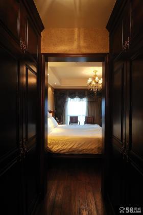 美式新古典风格卧室实木衣柜效果图