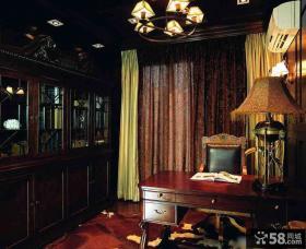 美式乡村风格家居书房装修设计