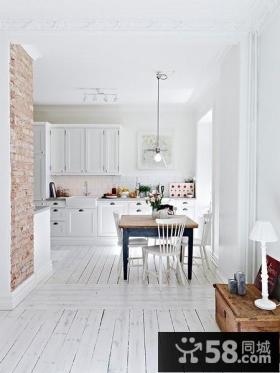 小户型白色纯美的客厅装修效果图大全2014图片