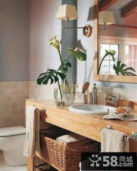 70平小户型舒适的卫生间装修效果图大全2014图片