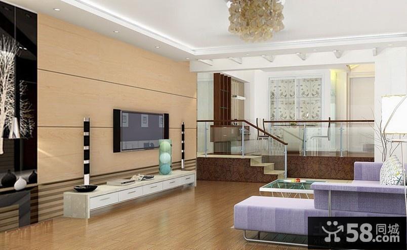 用瓷砖搭配出来的电视背景墙装修效果图大全2014图片