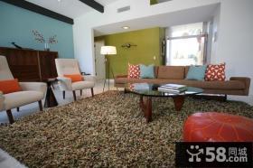 现代风格打造温馨农村别墅客厅装修效果图大全2012图片