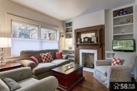 欧式客厅壁炉设计效果图片
