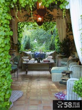 别墅庭院景观设计效果图大全
