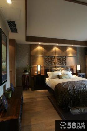 150平简复式 中式古典的卧室装修效果图