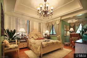 田园风格高档装修复式楼卧室效果图
