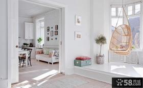 室内阳台秋千椅图片