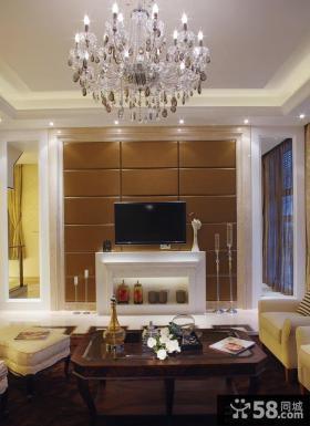 家庭设计室内客厅电视背景墙效果图欣赏