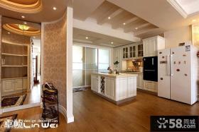 美式田园风格开放式厨房设计