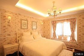 欧式田园风格卧室装修效果图大全