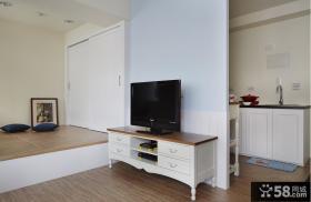 美式简约风格一居室装修设计图片