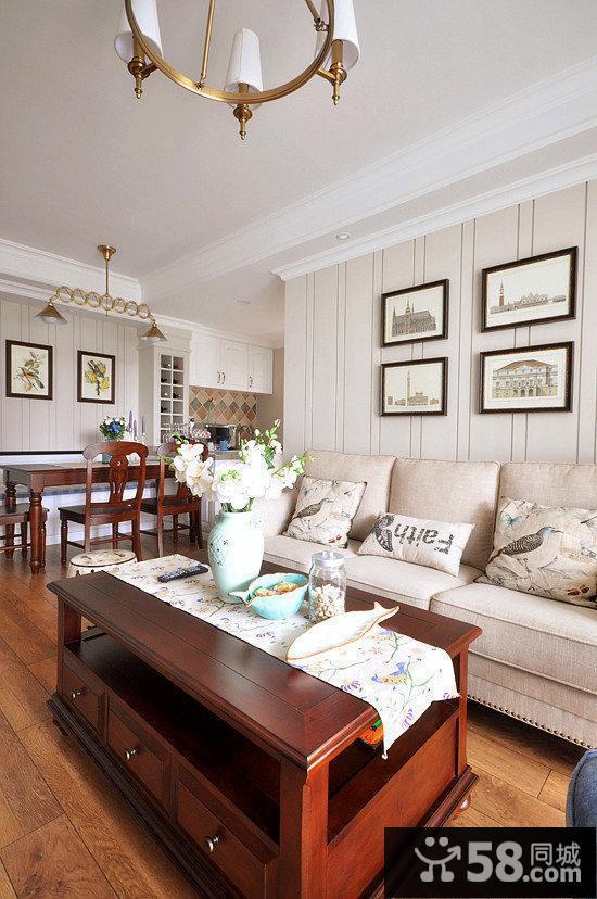 美式家装风格一室一厅客厅装修效果图