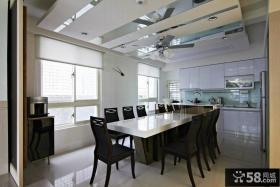 现代风格大户型餐厅厨房设计图片