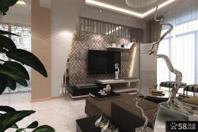 现代简约瓷砖电视背景墙效果图