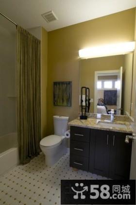 别墅现代简约风格装修 后现代简约装修风格卫生间图片