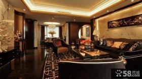 摩登古典新中式客厅装修