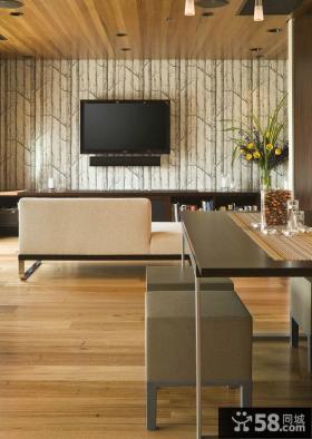 日式现代客厅电视背景墙大全