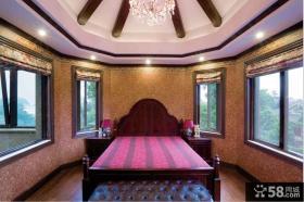 美式风格别墅卧室壁纸装修效果图