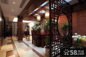 中式风格饭店隔断图片