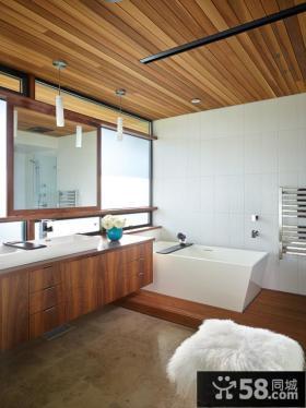 浴室桑拿板吊顶效果图欣赏