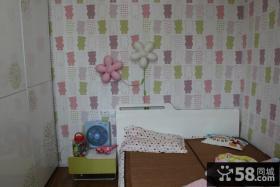 小卧室墙面壁纸背景墙效果图片