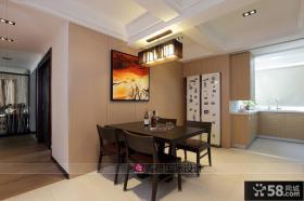 现代简约两室两厅餐厅装修效果图