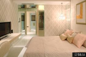 法式时尚简约卧室墙纸效果图
