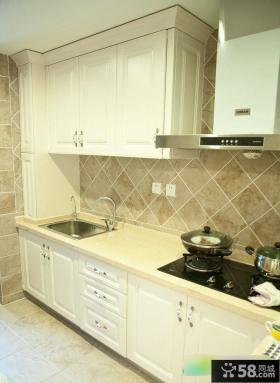 简欧厨房装修效果图片
