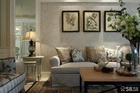 简约美式风格客厅设计装修图片