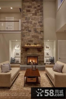 古典美式风格客厅装修效果图大全2014图片
