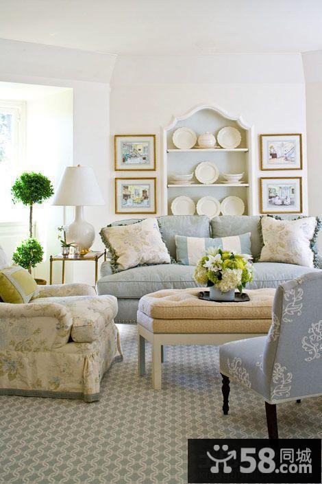 欧式风格客厅茶几地毯效果图