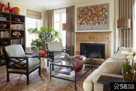美式乡村风格客厅装饰效果图