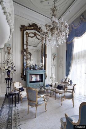 欧式风格别墅客厅吊顶效果图大全