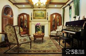 美式乡村小别墅客厅图片