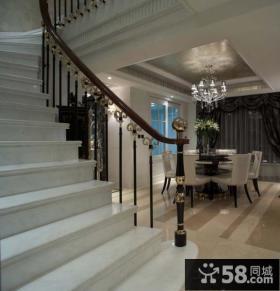 现代复式楼室内楼梯扶手设计
