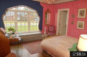 欧式卧室飘窗装修设计