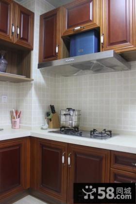 厨房实木橱柜装修效果图大全